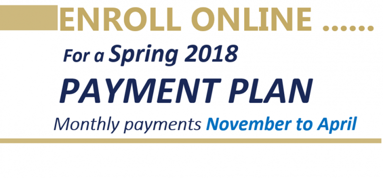 Spring payment plans are open